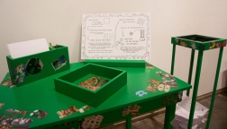 Of Rocks and Bullets Installation-Table